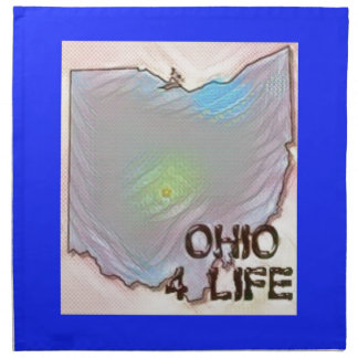 """Ohio 4 Life"" State Map Pride Design Printed Napkins"