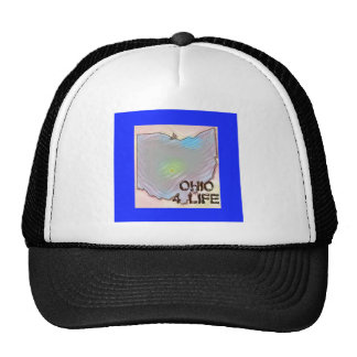 """Ohio 4 Life"" State Map Pride Design Trucker Hat"