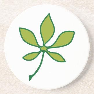 Ohio Buckeye Leaf Coaster