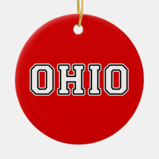 Ohio Ceramic Ornament
