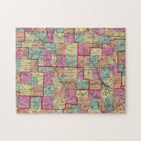 Ohio Counties Jigsaw Puzzle