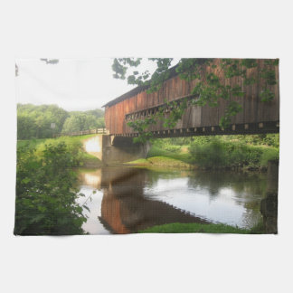 Ohio Covered Bridge and Stream Kitchen Towel
