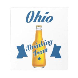Ohio Drinking team Notepad