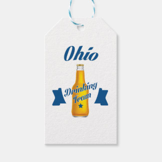 Ohio Drinking team Pack Of Gift Tags