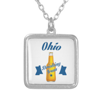 Ohio Drinking team Silver Plated Necklace