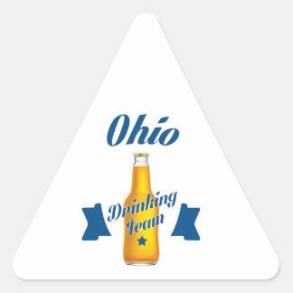Ohio Drinking team Triangle Sticker