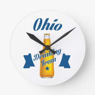 Ohio Drinking team Wall Clocks