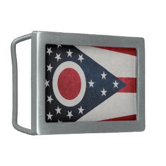 Ohio Flag Belt Buckle