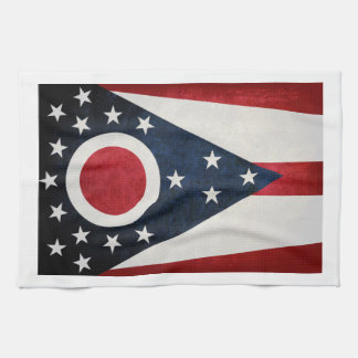 Ohio Flag Kitchen Towel