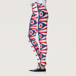OHIO FLAG LEGGINGS
