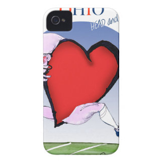 ohio head heart, tony fernandes iPhone 4 Case-Mate case