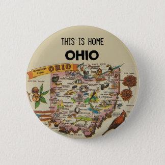 Ohio Home 2 Inch Round Button