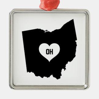 Ohio Love Metal Ornament
