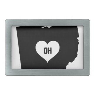 Ohio Love Rectangular Belt Buckle
