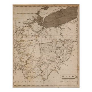 Ohio Map by Arrowsmith Poster