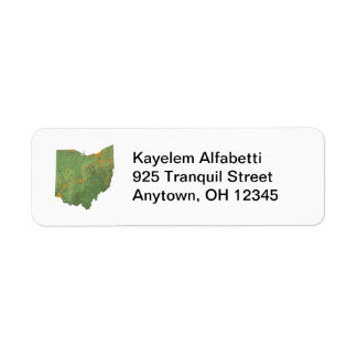 Ohio Map Return Address Label