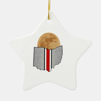 Ohio Moonlight Ceramic Ornament