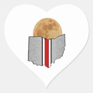 Ohio Moonlight Heart Sticker