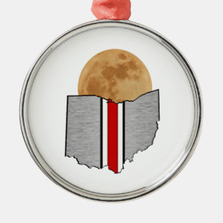 Ohio Moonlight Metal Ornament
