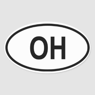 "Ohio ""OH"" Oval Sticker"