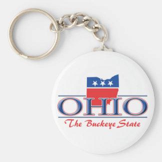 Ohio Patriotic Keychain