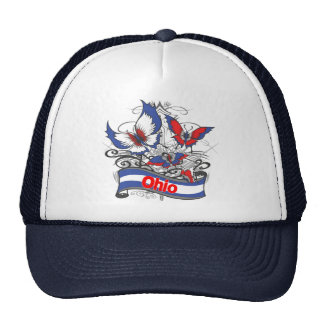Ohio Patriotism Butterfly Trucker Hat