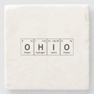 OHIO Periodic Table Elements Word Chemistry Symbol Stone Coaster