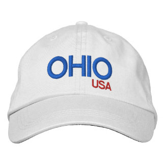 Ohio Personalized Adjustable Hat Embroidered Baseball Cap