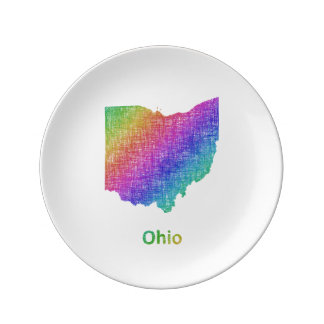 Ohio Porcelain Plate