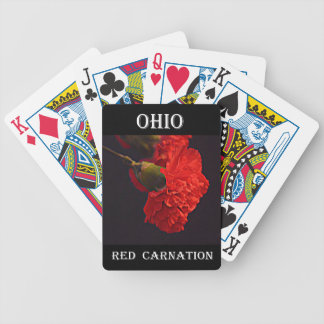 Ohio Red Carnation Bicycle Playing Cards
