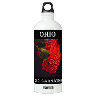 Ohio Red Carnation Water Bottle
