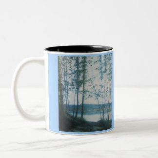 """OHIO RIVER HAZE DECORATIVE RINGER MUG"" Two-Tone MUG"