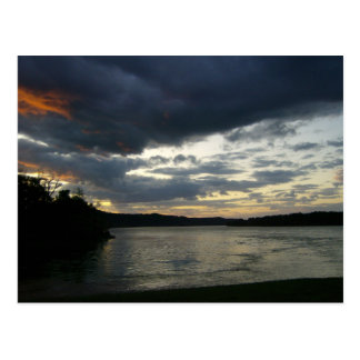 Ohio River Valley Sunrise Theme Postcard