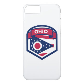 Ohio State Flag Crest Shaped Case-Mate iPhone Case