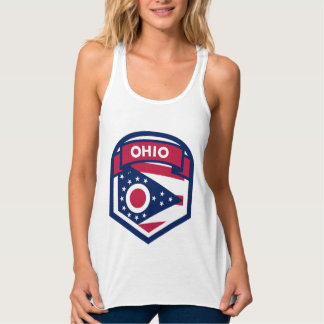Ohio State Flag Crest Shaped Tank Top