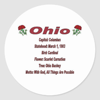 Ohio State Info Sticker