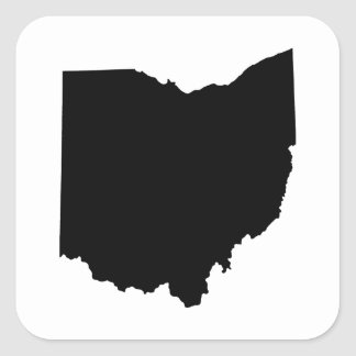 Ohio State Outline Square Sticker