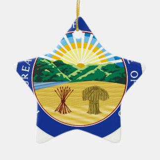 Ohio State Seal Ceramic Ornament