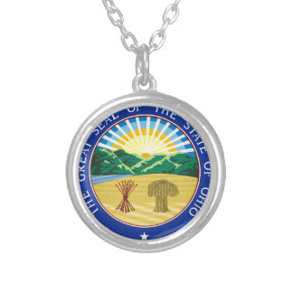Ohio State Seal Silver Plated Necklace