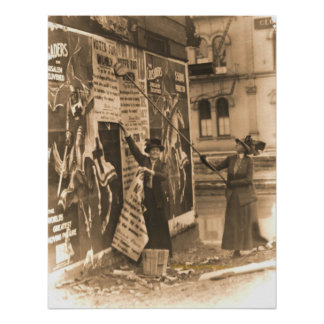Ohio Suffragettes Posting Bills in Cincinnati Poster