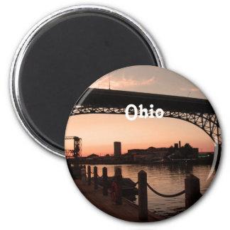 Ohio Sunset 2 Inch Round Magnet