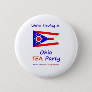 Ohio TEA Party - We're Taxed Enough Already! 2 Inch Round Button