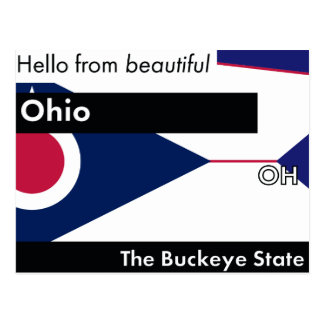 Ohio The Buckeye State Postcard