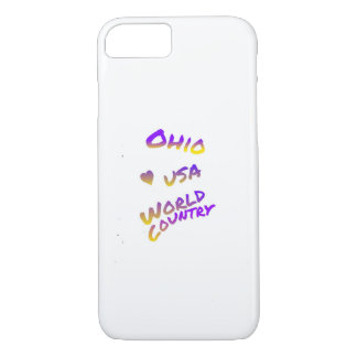 Ohio usa world country,  colorful text art iPhone 7 case