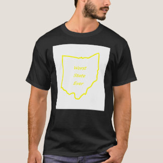 Ohio Worst State Ever Gold T-Shirt