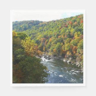 Ohiopyle River in Fall II Pennsylvania Autumn Paper Napkins