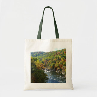 Ohiopyle River in Fall II Pennsylvania Autumn Tote Bag