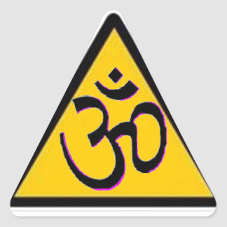 Ohm Crossing Triangle Sticker