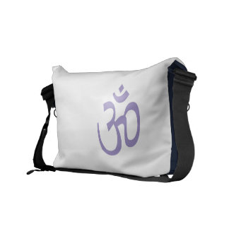 OHM, OM Namaste Yoga, Lotus Purple Courier Bag