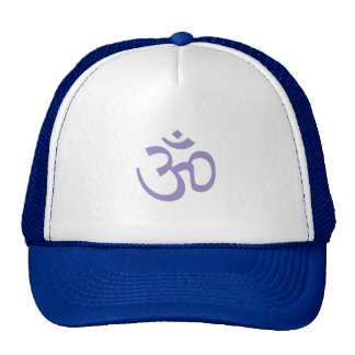 OHM, OM Namaste Yoga, Lotus Purple Trucker Hat